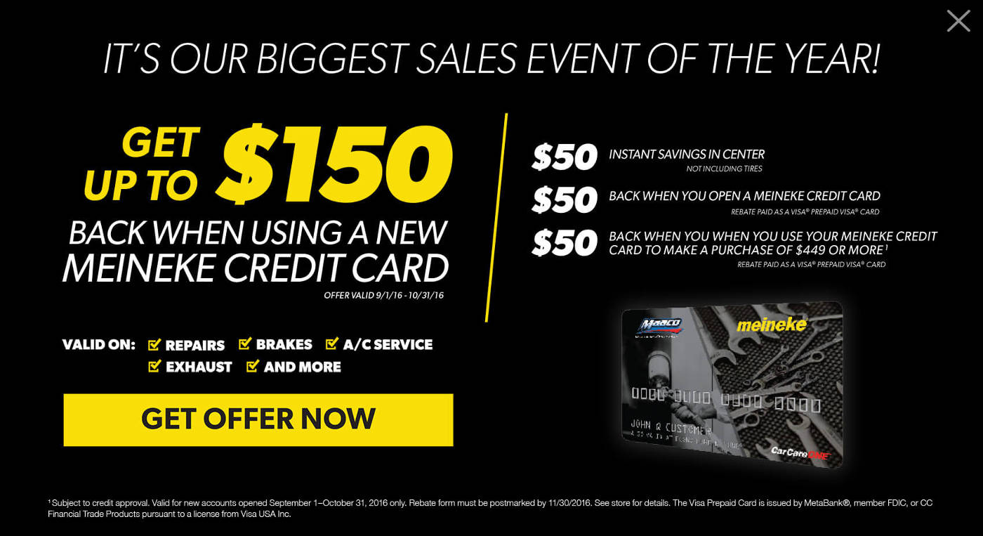 meineke offer desktop