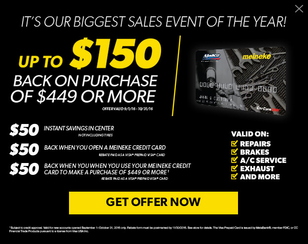 Mobile View Image For Meineke Offers