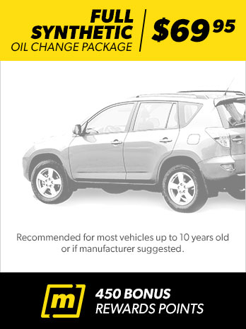 Oil change services meineke car care for Synthetic motor oil change schedule