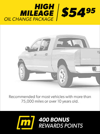 Oil Change Package High Mileage