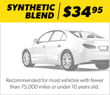 Synthetic Blend Oil Change Standard