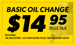 Basic Oil Change $14.95 Coupon