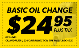 Basic Oil Change $24.95 Coupon