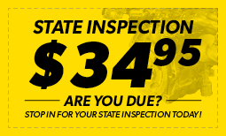 $34.95 Pennsylvania State Inspection Coupon
