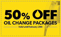 FLASH SALE: 50% off Oil Change Packages Coupon
