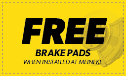 Free Brake Pads when installed at Meineke Coupon