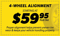 $59.95 4-Wheel Alignment Coupon
