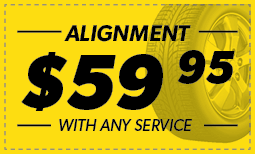 $59.95 Alignment Coupon