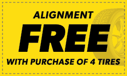Free Alignment w/ Purchase of 4 Tires Coupon