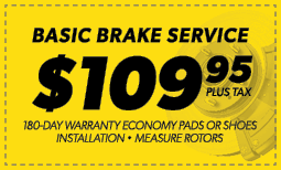 $109.95 Basic Brake Service Coupon