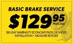 $129.95 Basic Brake Service
