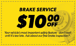 $10.00 Off Brake Service Coupon