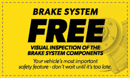 Free Brake System Check Coupon