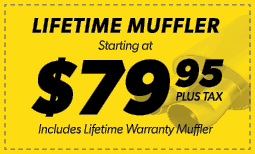 $79.95 Lifetime Muffler Coupon