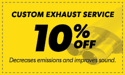 10% Off Custom Exhaust Service Coupon