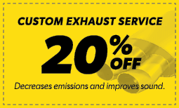 20% Off Custom Exhaust Service Coupon