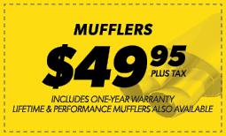 $49.95 Mufflers Coupon