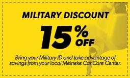 15% Military Discount Coupon