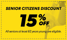 15% Senior Citizens Discount Coupon
