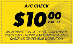$10.00 A/C Check Coupon