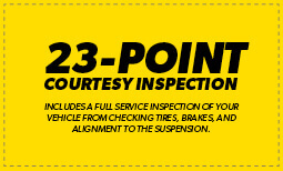 23 Point Courtesy Inspection Coupon