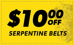 $10.00 Off Serpentine Belts Coupon