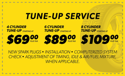 Tune Up Service - $69, $89, $109 Coupon