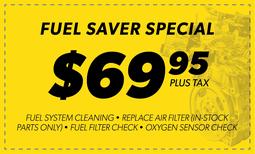 $69.95 Fuel Saver Special Coupon