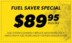 $89.95 Fuel Saver Special Coupon