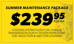 $239.95 Summer Maintenance Package Coupon