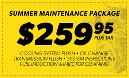 $259.95 Summer Maintenance Package Coupon