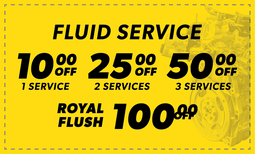 Fluid Service - $10 Off - $25 Off - $50 Off - $100 Off Coupon