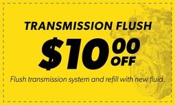 $10.00 Off Transmission Flush