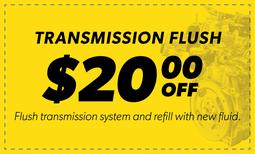 $20.00 Off Transmission Flush Coupon