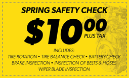 $10 Spring Safety Check Coupon