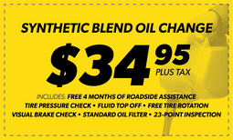 $34.95 Synthetic Blend Oil Change Coupon