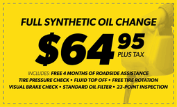 $64.95 Full Synthetic Oil Change Coupon