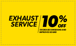 10% Off Exhaust Service Coupon