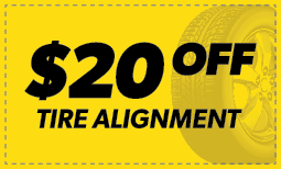 $20 Off Tire Alignment