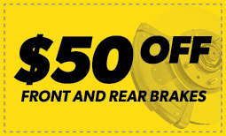 $50 off Front & Rear Brakes