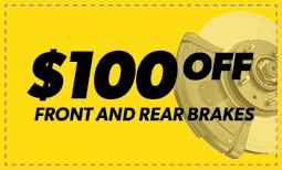 $100 Off Front & Rear Brakes Coupon