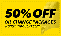 50% off Oil Change Package Coupon