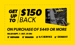 Get up to $150 Back - Meineke Credit Card Coupon
