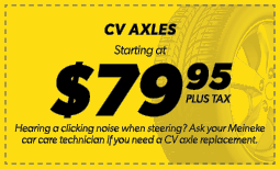 $79.95 CV Axles Coupon