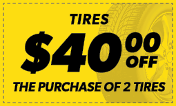 $40 Off the Purchase of 2 Tires