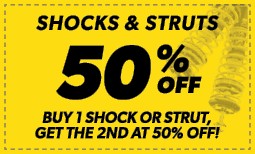 50% Off Shocks & Struts Coupon