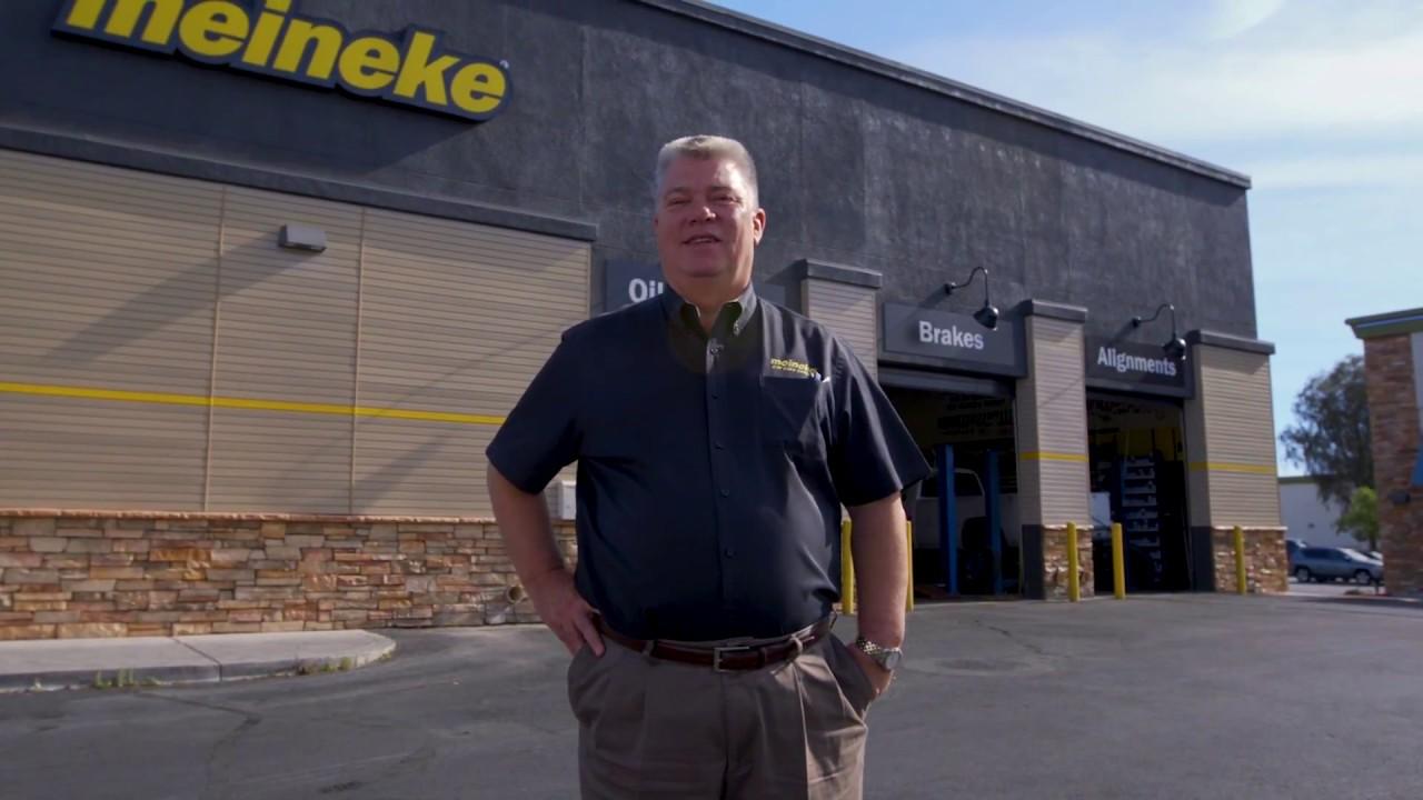 Bert in front of Meineke building