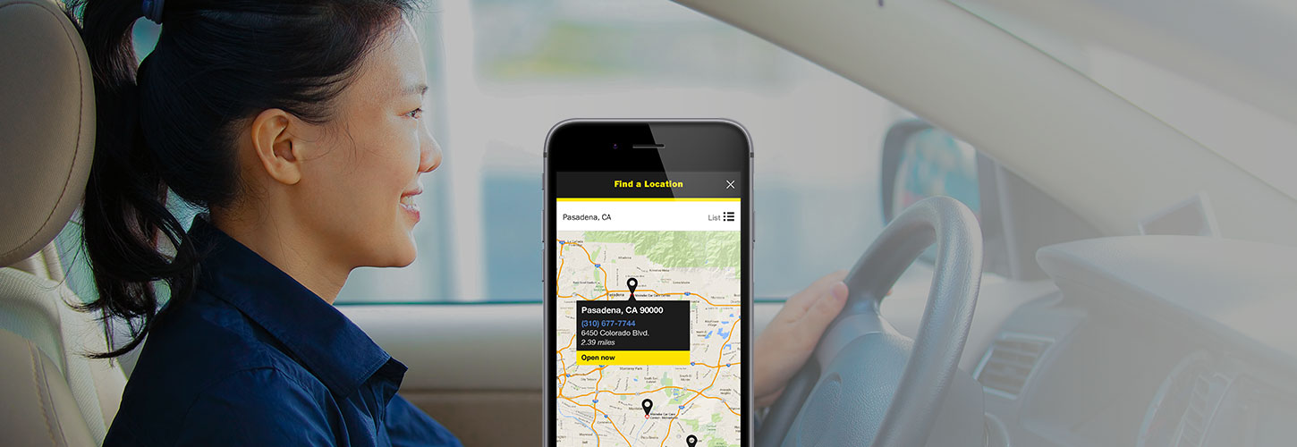Use Meineke App to find nearest location.