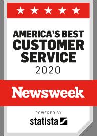 America's best customer service badge