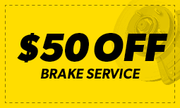 $50 Off Brake Service Coupon